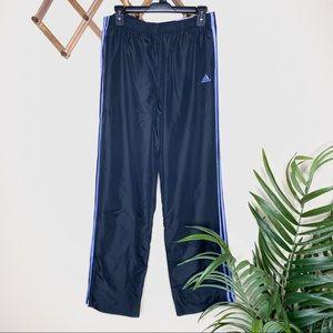 NWT Adidas Neon Blue + Black Track Wind Track Pant